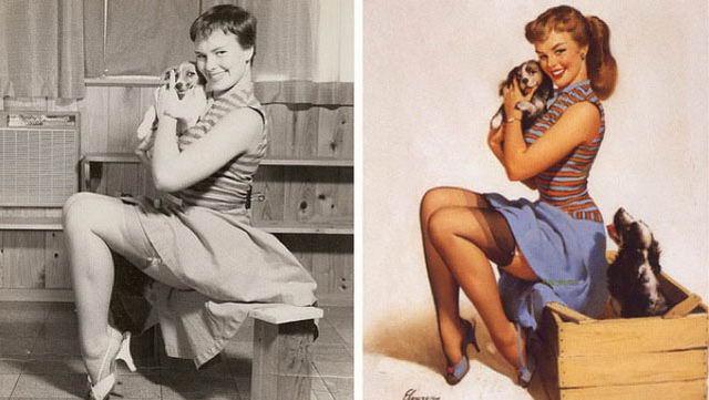pin-up 30-50-х годов